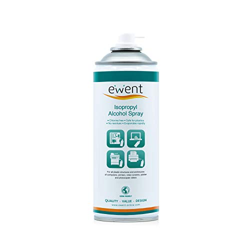 Ewent EW5611 - Pulverizador de Alcohol isopropílico Spray 400ml, Transparente