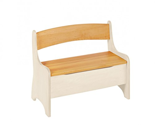 BioKinder 24785 Levin Kindersitzbank Sitzbank Truhenbank für Kinder aus Massivholz Erle 70 x 36 x 55 cm - 5