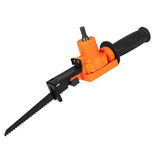 Motosierra eléctrica, adaptador para fijación de sierras de sable, cambia el taladro eléctrico en una herramienta de sierra de calar.