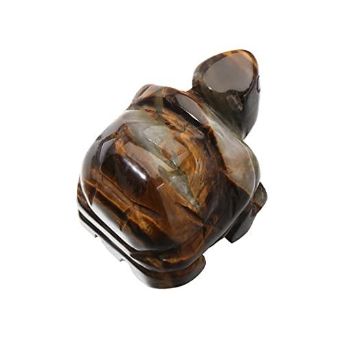 Tortuga Mineral natural regalo piedra curativa pecera joyería que hace amuleto de la suerte cristal tortuga estatuilla tallado animales Tiger Eye