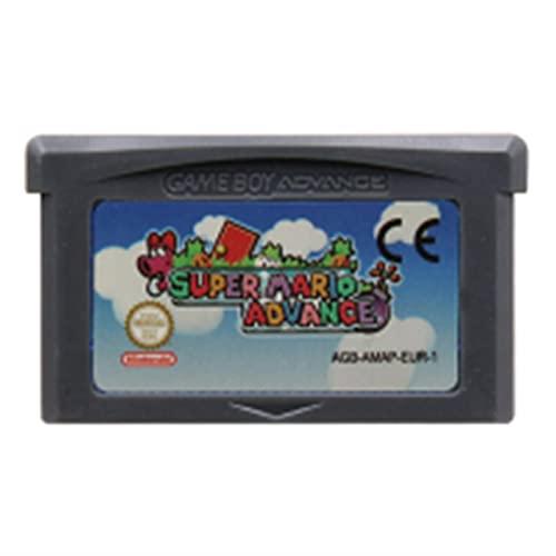 UJETML Tarjeta de Consola de Cartucho de Videojuegos de 32 bits para Nintendo GBA Super Mariold Advance Series Glish Language Edition (Color : Super Mariold EUR)