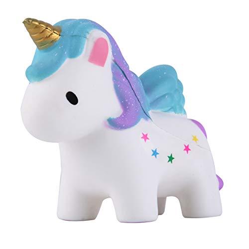 Anboor Squishies Unicornio Estrella Kawaii Squishies perfumado Animal Descompresión Apretón Alivio para el estrés Accesorios decorativos colección Color al azar