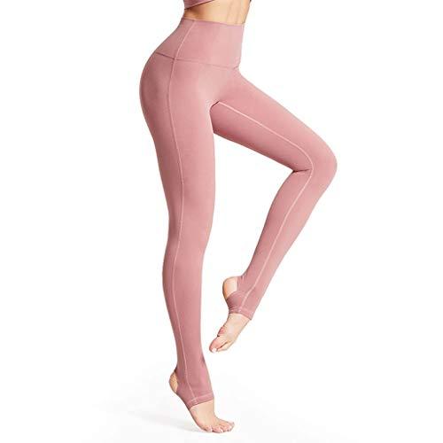 XYZMDJ Fitness Yoga-Hosen for Frauen High Waist Solideer Taschen Sport Gamaschen Sportlich Lange Tights Mädchen-Gymnastik-laufende Trainingshose (Color : Pink Small)