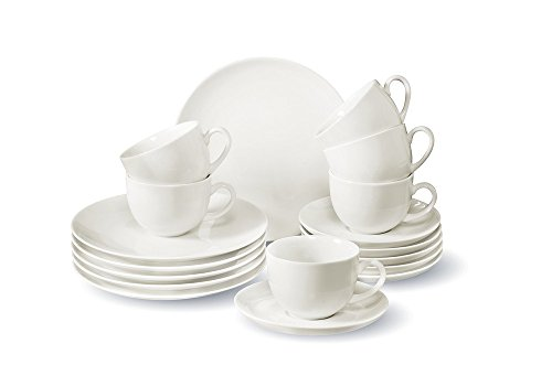 vivo Villeroy & Boch Group 19-5254-7126 Newfreshbasic Kaffeeset 18 teilig Geschirrsets, Porzellan, weiß, 24 x 30 x 21.5 cm, 18 Einheiten