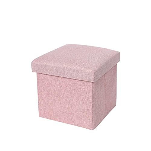 Parshall, cestino portaoggetti multifunzionale pieghevole in cotone e lino, sgabello portaoggetti per adulti