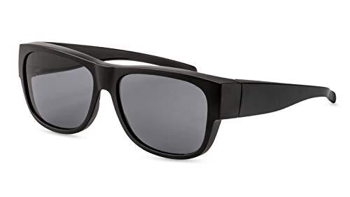 Primetta Fit-Over Sonnenbrille/Polarisierte Überzieh-Sonnenbrille für Brillenträger/In Schwarz F2510420