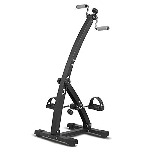 Bicicleta estática, Entrenador de Pies y Manos, equipo de rehabilitación de accidentes cerebrovasculares Fisioterapia de extremidades superiores e inferiores/Black / 93.5x41x41cm