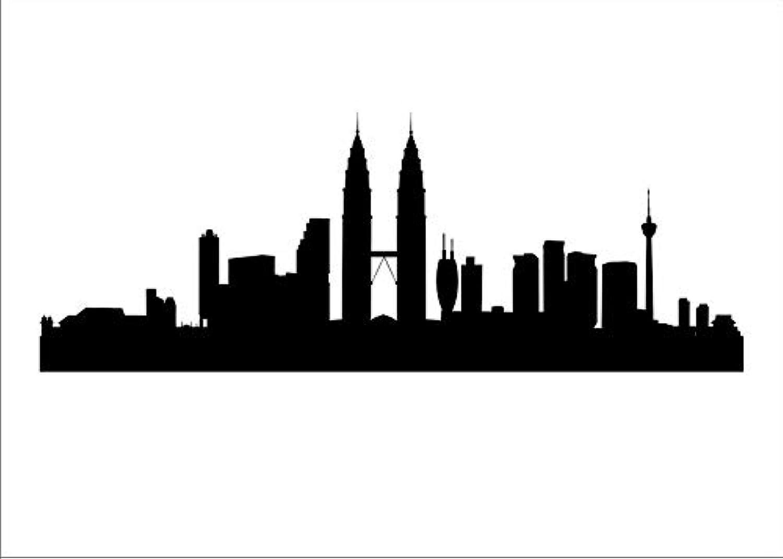 City Panorama wiederverwendbare Schablone A3 A4 A5 & größere Größen Modern Style P17, Selbstklebende Folienschablone, L Größe 70 x 200 cm - 27.6 x 78.7 in B07MW7SQ19  | Genial