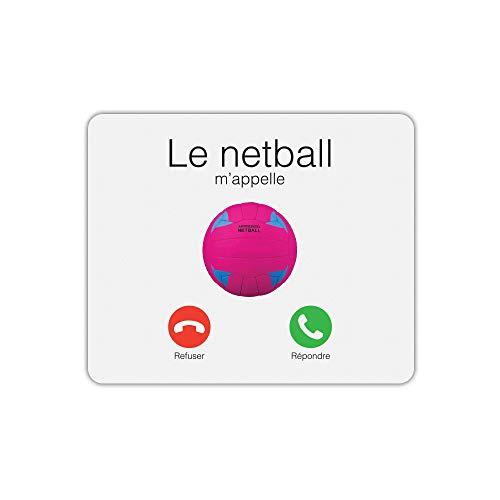 Le Netball Me appelle - Alfombrilla de ratón Rectangular