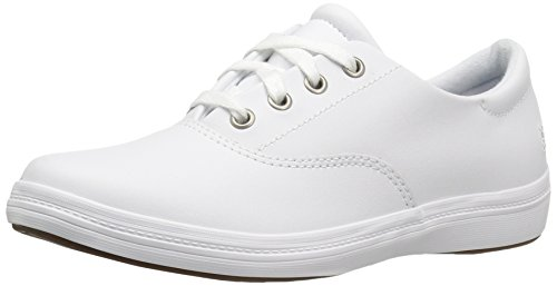 Grasshoppers Women's Janey II Fashion Sneaker, White Leather, 8 M US