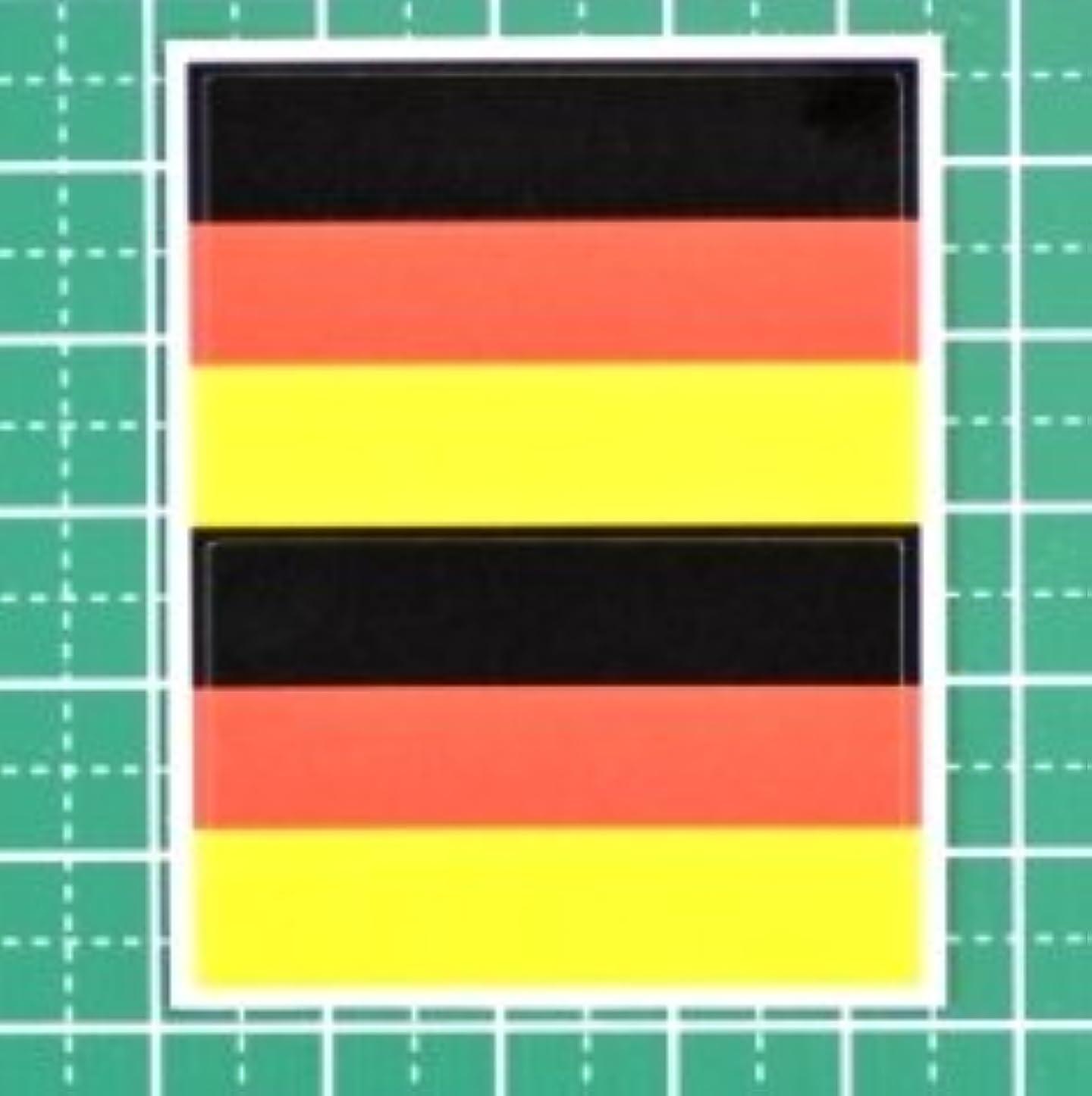 リズミカルな解釈的刺激するドイツ国旗★フェイスシール【ワールドカップ(サッカー)】/1シート2枚組