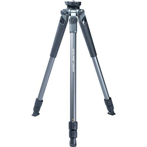 Video-statief met halve bol van aluminium, hoogte 130 cm, 6 kg belastbaar.