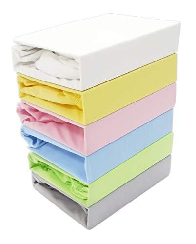 Spannbettlaken Kinderbett JERSEY 60x120 70x140 80x160 Top Qualität Hohe Gewicht 180g/m2 (80X160, Blau)