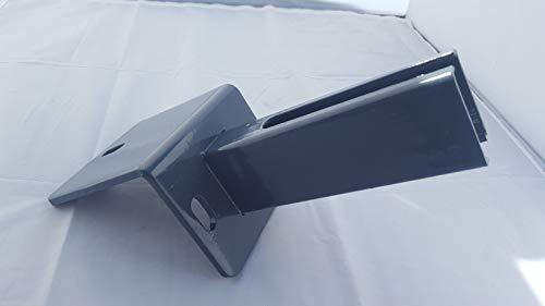 Pfostenadapter Winkelplatte für L-Steine anthrazit zum Aufdübeln für Pfosten 60x40 mm