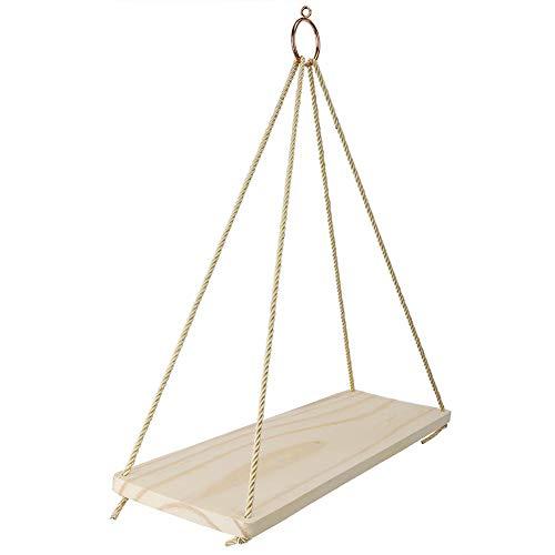 Aunmas Boheemse ongekoeld duurzaam van hout decoratief opbergrek voor aan de muur hangen, solide plank voor douche hoek startpagina slaapkamer garderobe decoratie display