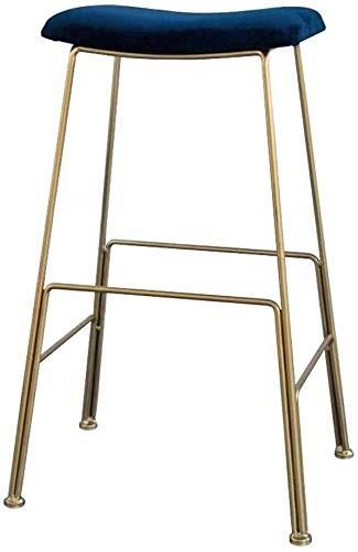 WWW-W-DENG barkruk, modern, barstoel, bistro, bar, keuken, blauw, huidskleur, velours, zitvlak gewatteerd met 200 kg, capaciteit van metaal, goudbeen, barkruk