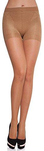 Merry Style Medias Reductoras Finas Panty Lencería Sexy Mujer MS 127 20 DEN (Beige, L)