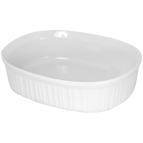 CorningWare French White 2-1/2-Quart Oval Dish
