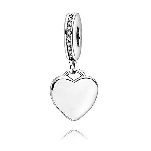Pandora 925 plata esterlina colgante DIY San Valentín nuevo plata esterlina perlas forma corazón encanto colgante ajuste original pulseras Pandora joyería femenina