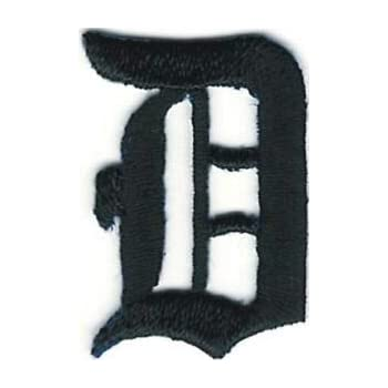 """1 1//8/"""" Fancy Black Old English Alphabet Letter A Embroidered Patch"""