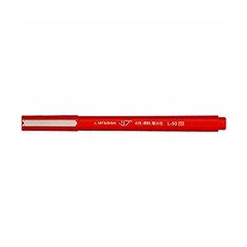 三菱鉛筆 水性サインペン リブ 赤 線幅0.5mm L50.15 【5本】