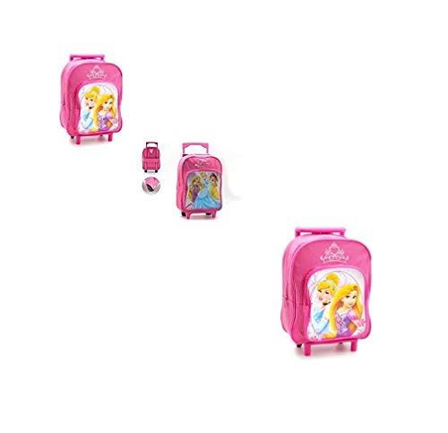 takestop® Zainetto Zaino Trolley Principesse Principessa Disney 25x20x40cm Scuola Pranzo Asilo Materna per Bambini Bambine Bambina Bimba fantasia casuale