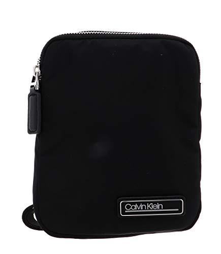 Calvin Klein - Primary Mini Flat Crossover, Shoppers y bolsos de hombro Hombre, Negro (Blackwhite Black), 1x1x1 cm (W x H L)