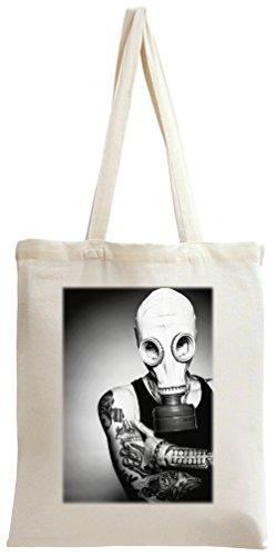 Inked Tattoo Gas Mask Boy Tote Bag