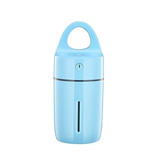 ASdf Nueva Magic Cup Ultrasonic Humidifier Colorful Led Light para Home Care Oficina Aroma Difusor Purificador Auto Power-Off (Color : Blue)