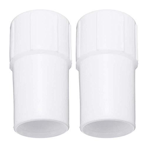 Deyan Manguera de aspiradora para Piscina con puños giratorios Accesorios de Limpieza para Tubos de succión de Doble Piscina(2pcs,White)