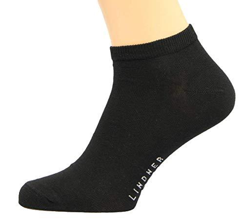 Max Lindner Sneaker Socken 3 er Pack (42-44, schwarz)