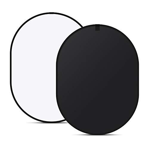 Neewer Chromakey Black Chromakey White Collapsible Backdrop Collapsible Reversible Background 5'x7' Chroma-Key Black/White