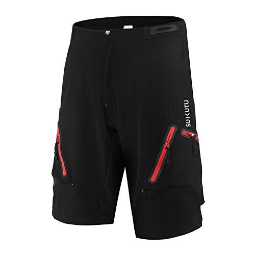 SUKUTU Pantaloncini da Ciclismo da Uomo Pantaloncini da Mountain Bike da MTB Pantaloncini da Allenamento per Palestra da Corsa Leggeri e Larghi Traspiranti