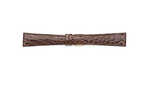 Cinturino Piatto in Coccodrillo Misura Lunga 10mm 12mm 14mm 16mm 18mm 20mm...