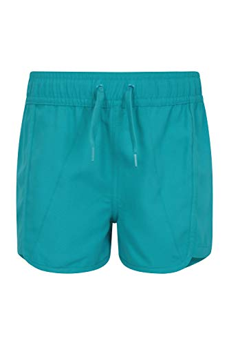 Mountain Warehouse Panama Mädchen-Schwimm-Shorts - leichte Strandshorts mit Kordelzug, Kinder-Sommershorts mit elastischer Taille, verstellbare Kurze Hose - für die Ferien Minze 13 Jahre