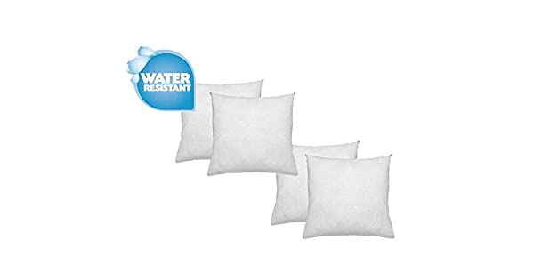 Standard//White 2 Pack 24 L X 24 W IZO Home Goods Premium Outdoor Anti-Mold Water Resistant Hypoallergenic Stuffer Pillow Insert Sham Square Form Polyester