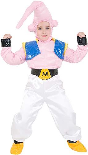 VENEZIANO Costume di Carnevale da Guerriero Majin Baby Vestito per Bambino Ragazzo 1-6 Anni Travestimento Halloween Cosplay Festa Party 3680 Taglia 5