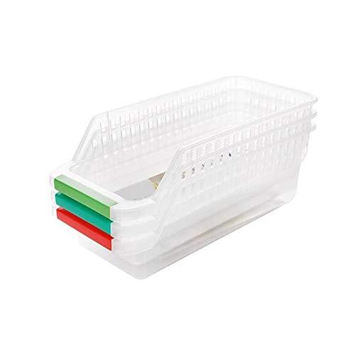 Clasificación de cesta de plástico Creatividad Huevo Alimentación Cajón Caja de almacenamiento Refrigerador Tejido Organizador Contenedores Transparente Titular