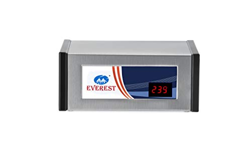 Everest ENTD 100 Digital New Model Metal Body Attractive Design Voltage Stabilizer Used Upto 72 Inches LED TV + Home Theater + Set Top Box (Working Range : 90 V to 290 V)