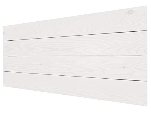 LA WEB DEL COLCHON - Cabecero de Madera Austin Vintage para Cama de 90 (100 x 44 cms.) Blanco nórdico | Cabeceros Madera | Dormitorio Matrimonio | Cabezal Cama | Cama Juvenil |Estilo nórdico