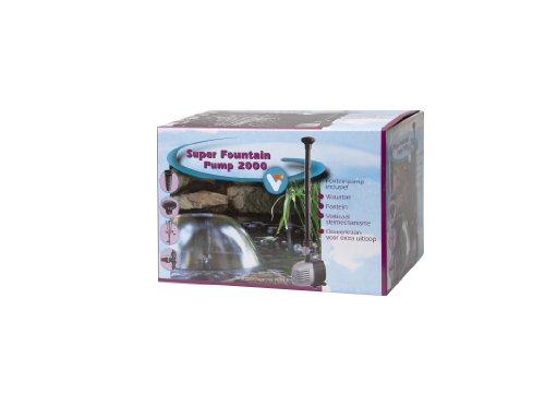 Velda 146161 Springbrunnspump för dammar med vattenlås och fontän, max. höjd 2,0 m, 25 watt, Super Fountain 2000