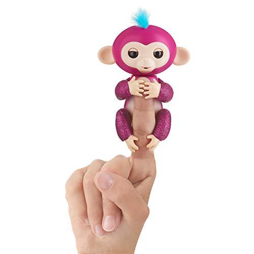 WowWee Fingerlings Glitter Monkey Razz Raspberry Glitter Interactive Baby Pet Toy
