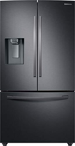 Samsung RF23R62E3B1/EG Kühlschrank im French Door-Stil mit Twin Cooling Plus, 630 Liter Kühlschrankvolumen, 204 Liter Gefriervolumen, 414 kWh/Jahr, Premium Black Steel