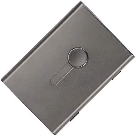 KINGFOM Stainless Steel Business Card Case Thumb Drive Business Name Credit ID Card Holder for product image