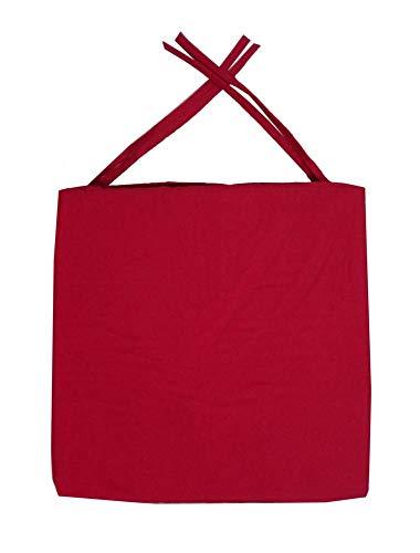 Galette de chaise carrée 40x40x4 cm Rouge