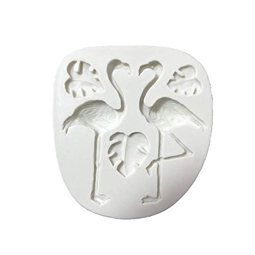 KAUTO 3D Flamingo Turtle Leaf Mould Silicone Fondant Cake Molds Kitchen Decorating Mold Candy Clay Chocolate Moulds