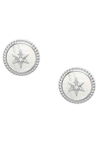 Fossil Fossil JFS00500040 Pendientes de botón para mujer Vintage Star Silver