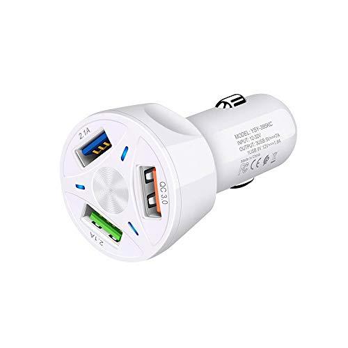 NO BRAND 12 V auto sigarettenaansteker aansteker oplader auto USB QC 3.0 snel opladen 3 USB splitter universeel voor mobiele telefoonaccessoires