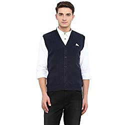 Monte Carlo Navy Pure Wool Cardigan