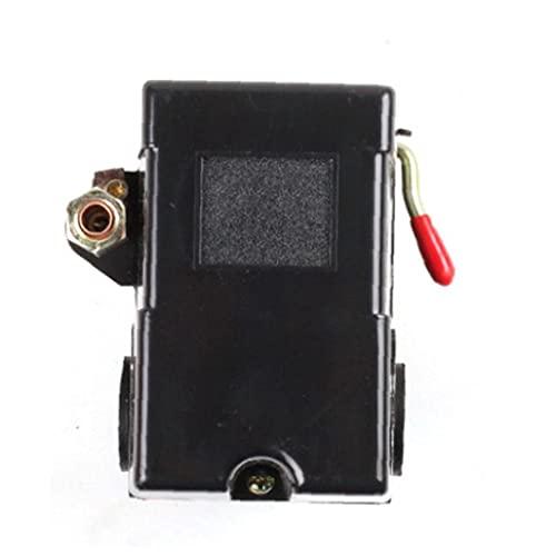 Válvula de control del compresor de aire del interruptor de la bomba Válvula reguladora de presión de 4 puertos 5-8kg con Palanca compresor de reemplazo, Switch